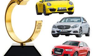 Auto Trophy 2013 Gewinnspiel Preise Porsche 911 Mercedes E-Klasse Audi RS Q3