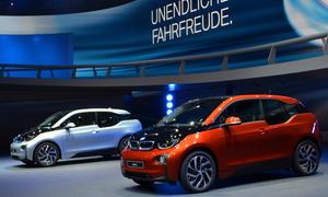 BMW i3 i8 IAA 2013 Elektroauto Plug-In-Hybrid Bilder Carbon Leichtbau