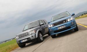 Land Rover Discovery TDV6 FreelanderSD4 SUV Vergleich Bilder technische Daten Fahrleistungen