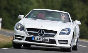 Mercedes SLK 200 BlueEfficiency Vergleichstest Roadster Cabrio Test Bilder front