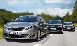 Peugeot 308 2013 Vergleich Citroen C4 Renault Megane Diesel Vergleichstest