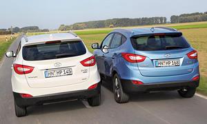 Bilder Hyundai ix35 2.0 GDI CRDi 2WD Benziner Diesel Vergleichstest