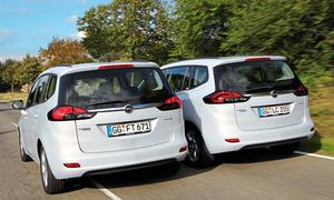 Opel Zafira Tourer 1.4 Turbo 1.6 CDTI Vergleich Bilder technische Daten