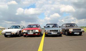 BMW 525 Ford Granada 2.8 Citroen CX 2400 Renault 30 TX Vergleich Limousine Bilder technische Daten