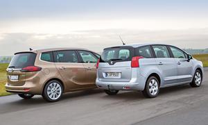 Bilder Opel Zafira Tourer Peugeot 5008 Markenvergleich