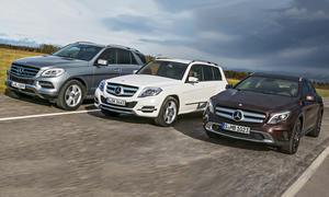 Bilder Mercedes GLA GLK ML SUV-Vergleich