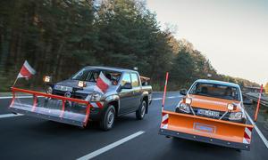VW Amarok Winterdienst Schneepflug Pickup Umbau