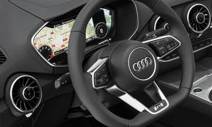 Audi TT 2014 CES Innenraum Virtual Cockpit Infotainment-Display Tacho MMI