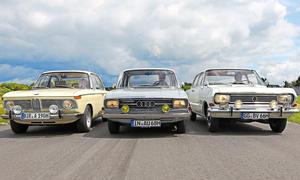 BMW 1800 Audi Super 90 Opel Rekord 1,9 L Vergleich Oldtimer Mittelklasse Bilder technische Daten