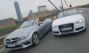 Audi A5 Cabrio 2.0 TFSI Mercedes E 250 Cabrio Markenvergleich Bilder technische Daten