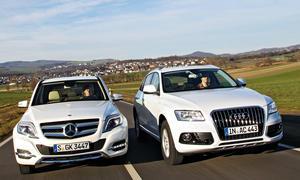 Audi Q5 3.0 TDI Mercedes GLK 350 CDI Markenvergleich Bilder technische Daten