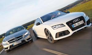 Audi RS7 Sportback Mercedes CLS 63 AMG Shooting Brake Markenvergleich Bilder technische Daten