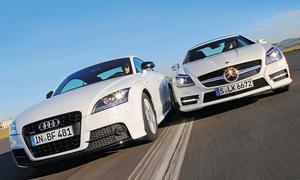 Audi TT Coupe 2.0 TFSI quattro Mercedes SLK 250 Markenvergleich Bilder technische Daten