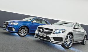Bilder Audi RS Q3 Mercedes GLA 45 AMG Exklusiv Vergleich