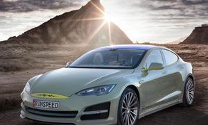 Rinspeed XchangE 2014 Genfer Autosalon Tesla Model S Reise Limousine