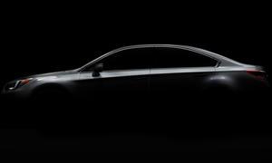 Subaru Legacy 2014 Chicago Auto Show Mittelklasse Limousine Teaser Neue Generation