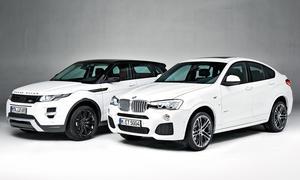 BMW X4 Vergleich Range Rover Evoque SUV-Coupé Vergleichstest