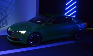 Skoda VisionC 2014 Genfer Autosalon Live-Bilder Coupe Studie