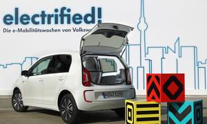 VW e load up 2014 Elektro Transporter Studie Nutzfahrzeug Stadt-Lieferwagen