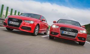 Audi A3 1.8 TFSI A4 1.8 TFSI Vergleich Bilder technische Daten