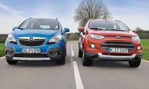 Ford EcoSport 1.0 EcoBoost Opel Mokka 1.4 Turbo Vergleich Bilder technische Daten