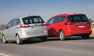Bilder Ford Grand C-MAX Opel Zafira Tourer Markenvergleich