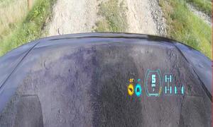 Land Rover Discovery Vision Concept Studie New York Auto Show 2014 durchsichtige Motorhaube Transparent Bonnet