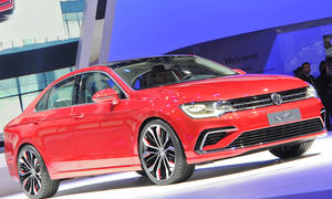VW New Midsize Coupé Auto China 2014 Mittelklasse-Studie Neuheiten Sportlimousine Premiere