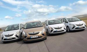 Opel Zafira 2014 Antriebsvergleich Benzin Diesel CNG LPG Bilder