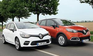 Renault Captur Clio Grandtour 2014 SUV Vergleich Bilder