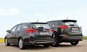 Toyota Auris Touring Sports RAV4 2014 Vergleich SUV Konzeptvergleich Bilder