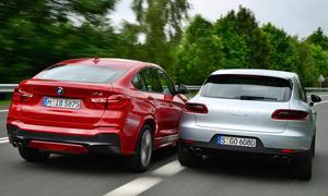 BMW X4 Porsche Macan S Vergleich SUV Bilder technische Daten