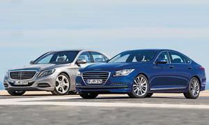 Hyundai Genesis Mercedes S-Klasse Limousinen Vergleich Bilder