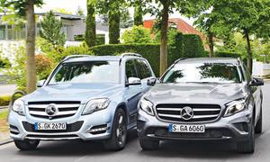 Mercedes GLA 250 4matic GLK 250 4matic Vergleich SUV Offroader Bilder