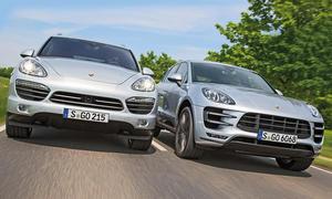 Porsche Macan Turbo Cayenne S SUV Vergleich Bilder