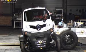 Renault Twizy  Tazzari Zero Micromobile Crashtest 2014 Euro NCAP