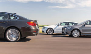 Audi A5 Sportback 2.0 TFSI BMW 428i Gran Coupé Mercedes CLA 250 Viertürer Coupés Vergleich Bilder