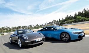 BMW i8 Porsche 911 Carrera Vergleich Bilder technische Daten