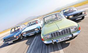 Ford 20 M TS Opel Rekord 1900 S Volvo 144 S Glas 1700 TS Vergleich Bilder technische Daten