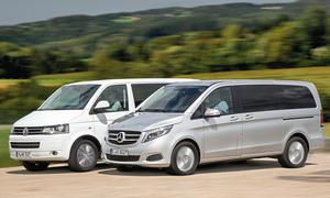 Mercedes V 220 VW Multivan Vergleich Bilder technische Daten