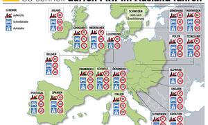 Tempolimits Europa Geschwindigkeitsbegrenzungen Überblick 2014