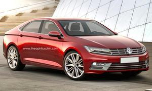 VW Passat CC 2016 Rendering Viertueriges Coupé MQB Bilder Nachfolger