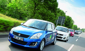 CO2 Challenge 2014 Suzuki Swift Leser Test Aktion