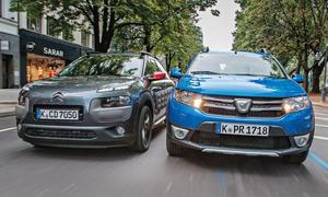 Citroen C4 Cactus Dacia Sandero Stepway Crossover Vergleich Bilder technische Daten