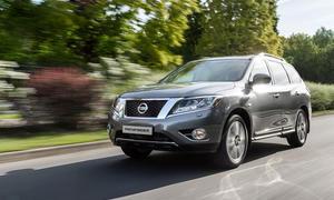 Nissan Pathfinder 2015 Gelaendewagen Allradantrieb Hybrid Benziner Moskau Auto Show 2014