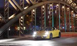 Porsche 911 targa 4S 2014 Test Nacht Hamburg Speicherstadt Bilder