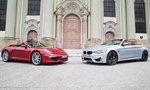BMW M4 Cabrio Porsche 911 Carrera Cabrio Vergleich Bilder
