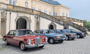 Mercedes 300 SEL 450 SEL 560 SEL 600 SEL Vergleich Bilder technische Daten