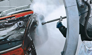 Hochdruck-Wasserstrahl-Entrostung Ratgeber Porsche 911 Targa Bilder