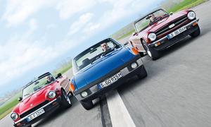 Porsche 914/6 Triumph TR6 Fiat 124 Spider Cabrio Vergleich Bilder technische Daten